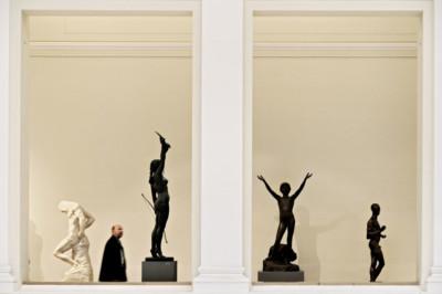 Statues au Statens Museum for Kunst à Copenhague, Danemark