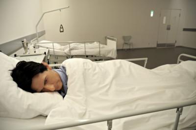 Malade en cire au musée Statens Museum for Kunst, Danemark