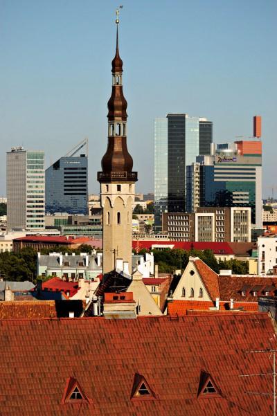 Vieille et nouvelle ville de Tallinn, Estonie