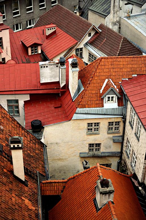 Toits rouges de la vieille ville de Tallinn, Estonie