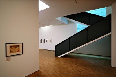 Escaliers à l'intérieur du KUMU, le musée d'art Estonien