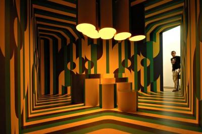 Chambre psychédélique au KUMU, le musée d'art Estonien de Tallinn