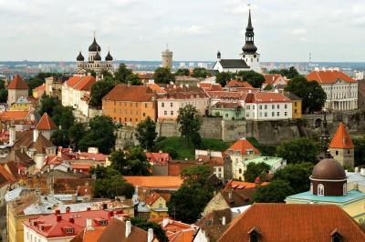 Toompea est une colline au centre de Tallinn, Estonie