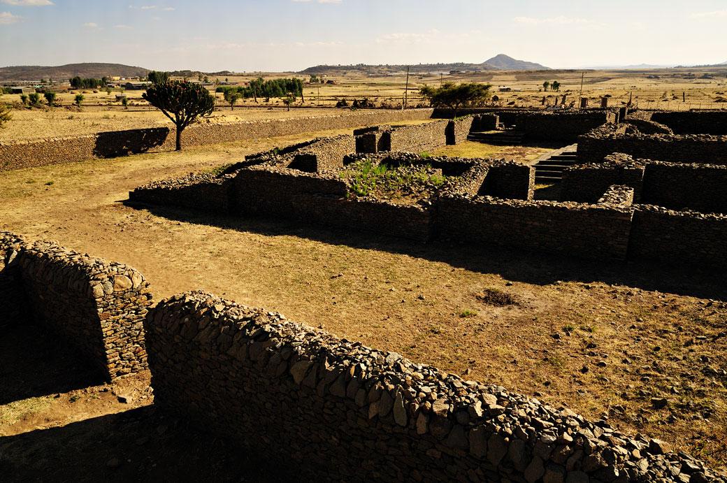 Ruines du palais de Dungur à Aksoum dans le Tigray, Ethiopie