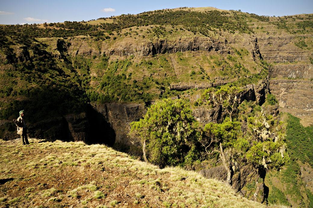 Falaises dans les montagnes du Simien, Ethiopie