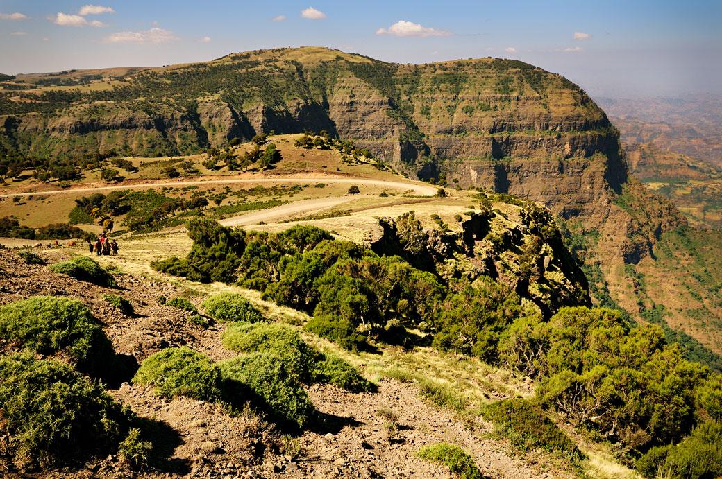 Majestueuses montagnes du Simien, Ethiopie