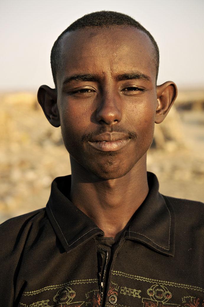 Portrait d'un homme à Ahmed Ela, Ethiopie