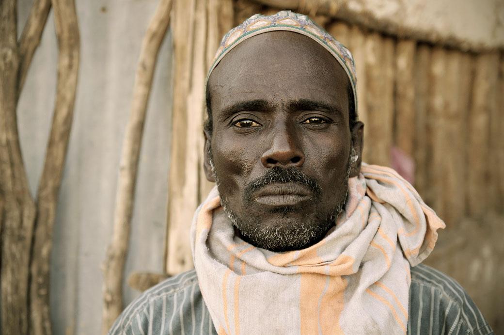 Portrait d'un homme Afar à Logia, Ethiopie