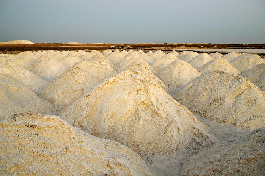 Tas de sel des salines d'Afdera, Ethiopie