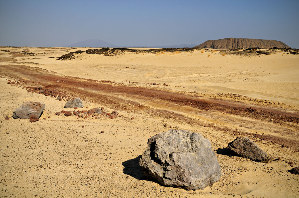 Piste dans le désert du Danakil, Ethiopie