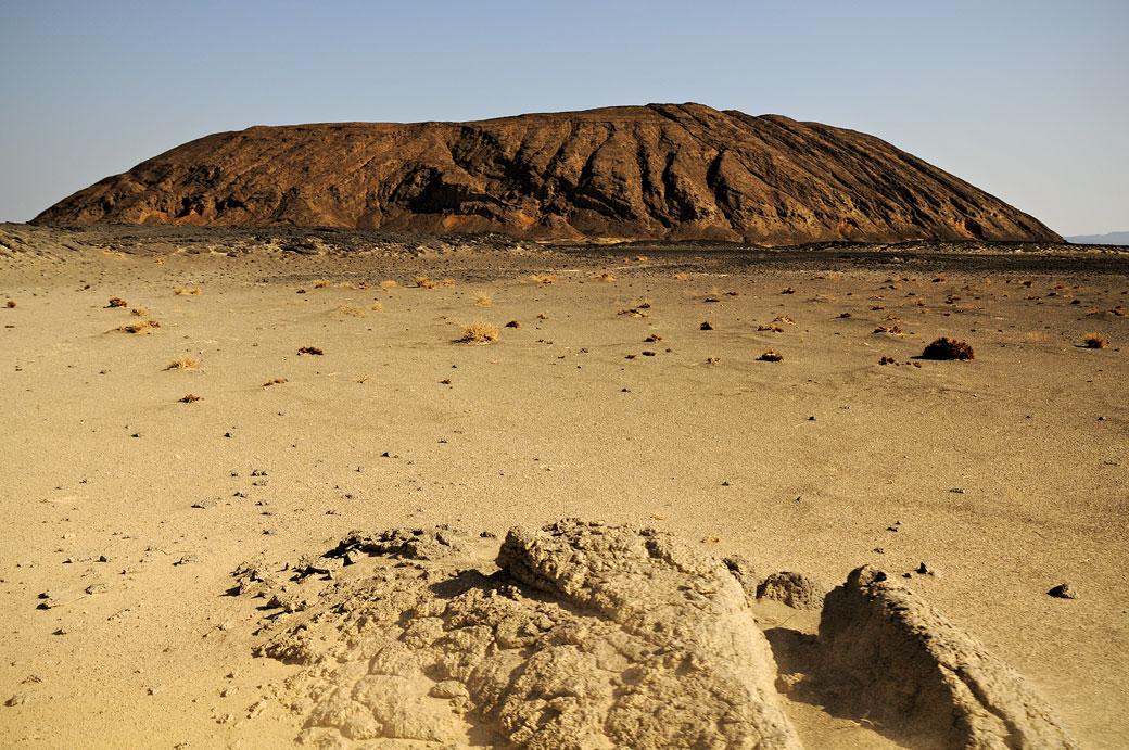 Montagne volcanique dans le désert du Danakil, Ethiopie