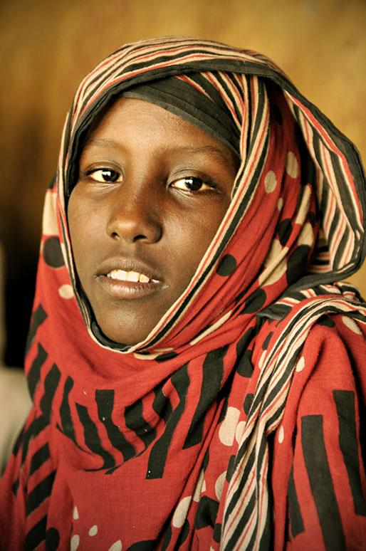 Femme Afar du désert Danakil, Ethiopie