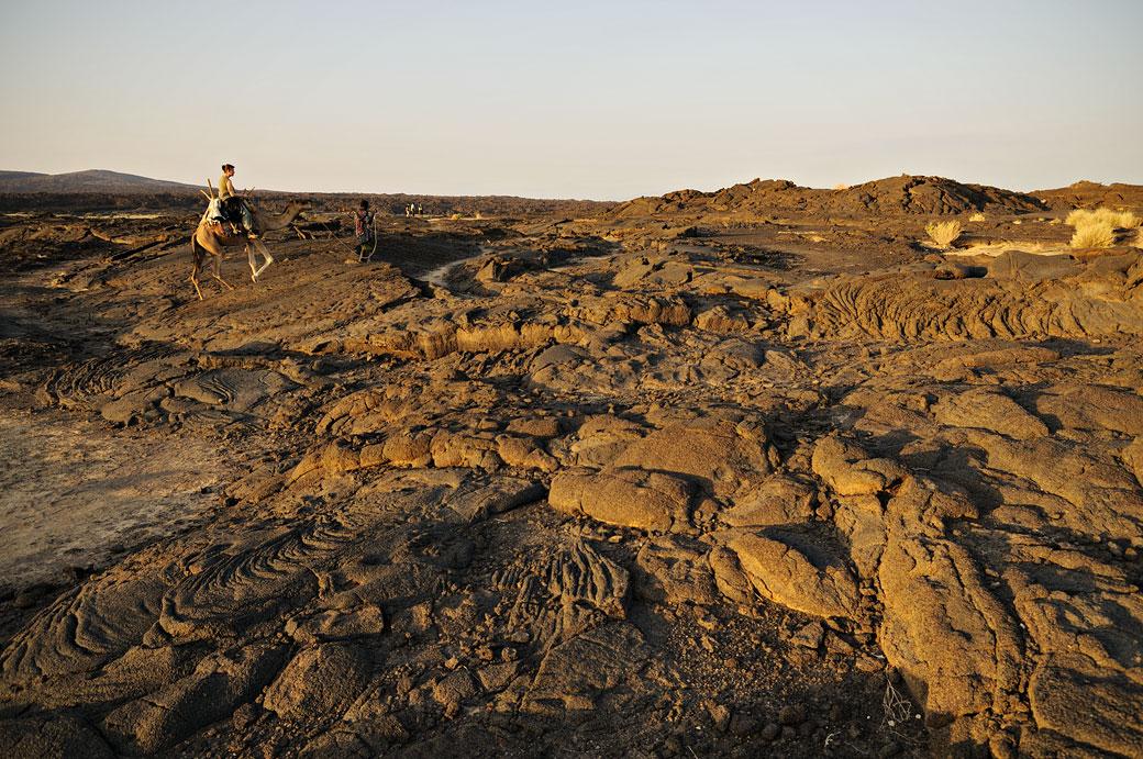 Lave solidifiée sur le volcan Erta Ale, Ethiopie