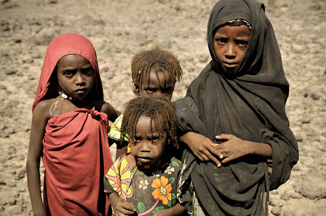 Enfants Afar du désert Danakil, Ethiopie