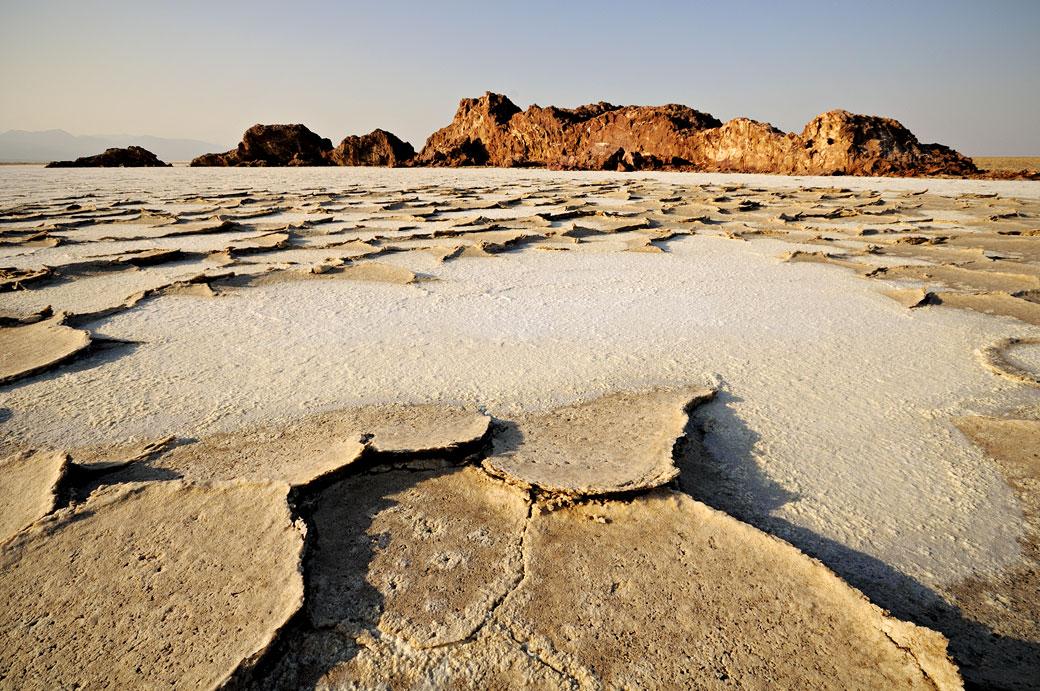 Colline de sel sur le lac Assale, Ethiopie