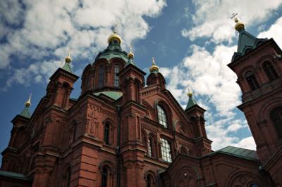 La cathédrale orthodoxe Ouspenski à Helsinki, Finlande