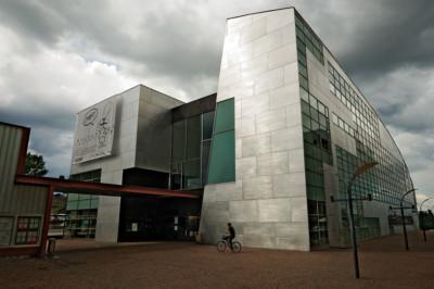 Extérieur du musée d'art contemporain KIASMA à Helsinki, Finlande