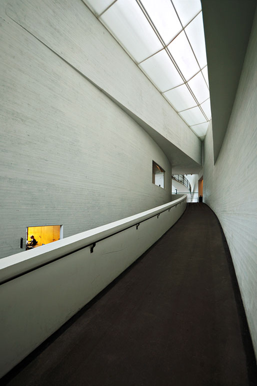 Architecture du KIASMA, le musée d'art contemporain d'Helsinki, Finlande