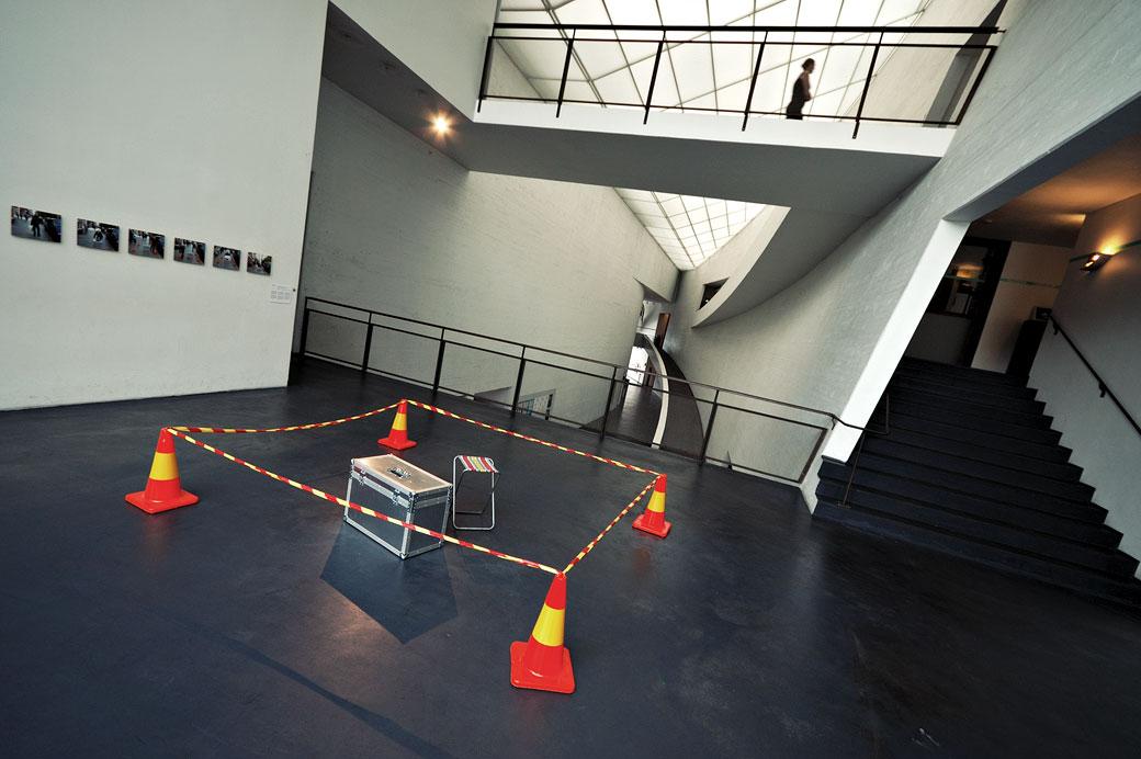 Urban Space Occupation Kit de l'artiste Otto Karvonen au KIASMA d'Helsinki