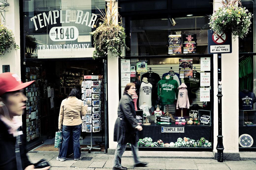 Magasin de souvenirs Temple Bar Trading Company à Dublin, Irlande