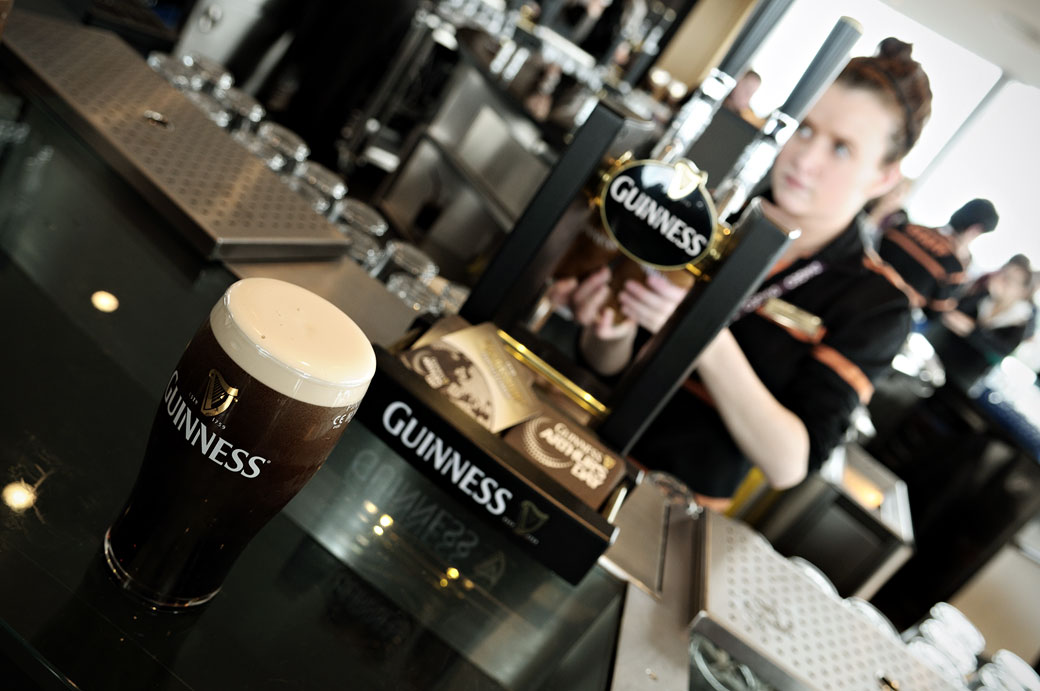 Guinness au Gravity Bar de Dublin, Irlande