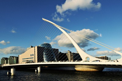 Pont Samuel Beckett à Dublin, Irlande