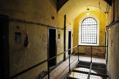Fenêtre à la prison de Kilmainham de Dublin, Irlande