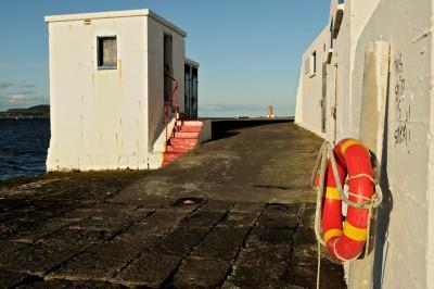 Great South Wall dans la baie de Dublin, Irlande