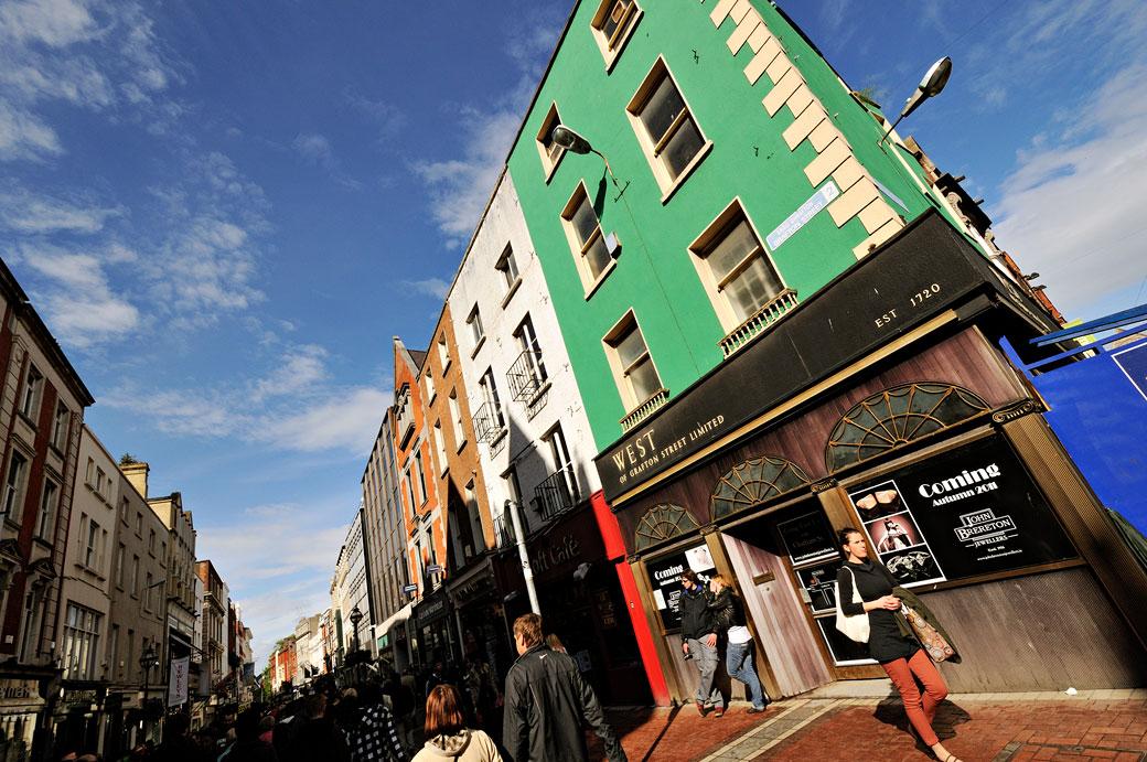 Rue piétonne de Grafton Street à Dublin, Irlande
