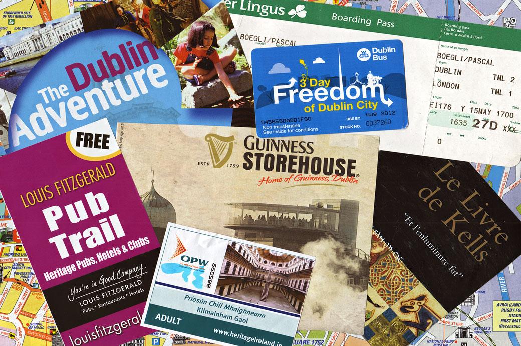 Brochures touristiques de Dublin, Irlande