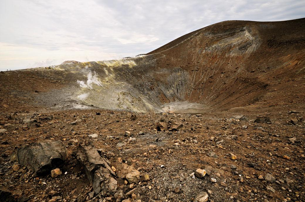 Le cratère Fossa Grande à Vulcano en Sicile, Italie