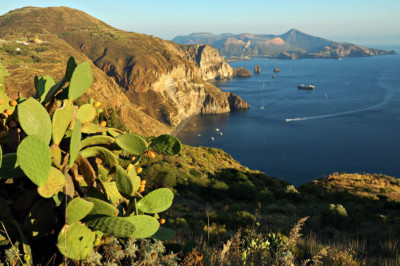 Belvédère Quattrocchi sur l'île de Lipari en Sicile, Italie