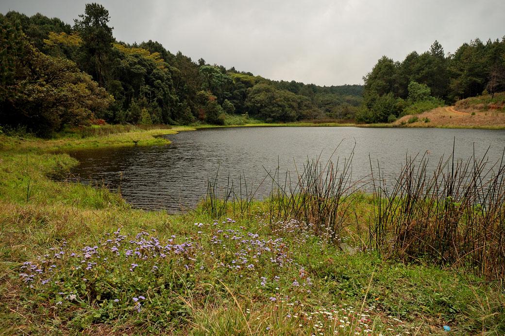 Lac sur le plateau de Zomba, Malawi