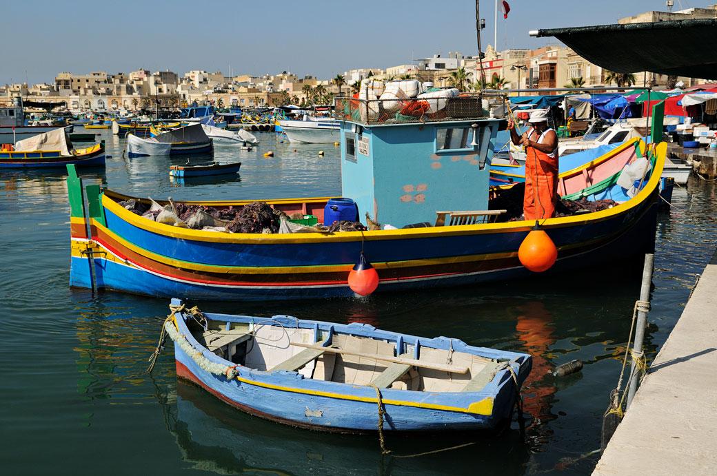 Le port de pêche de Marsaxlokk, Malte