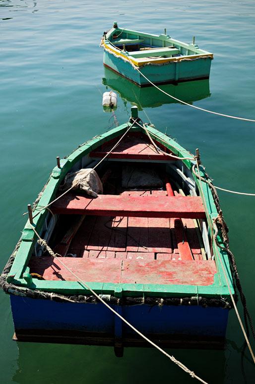 Barques dans le port de Marsaxlokk, Malte