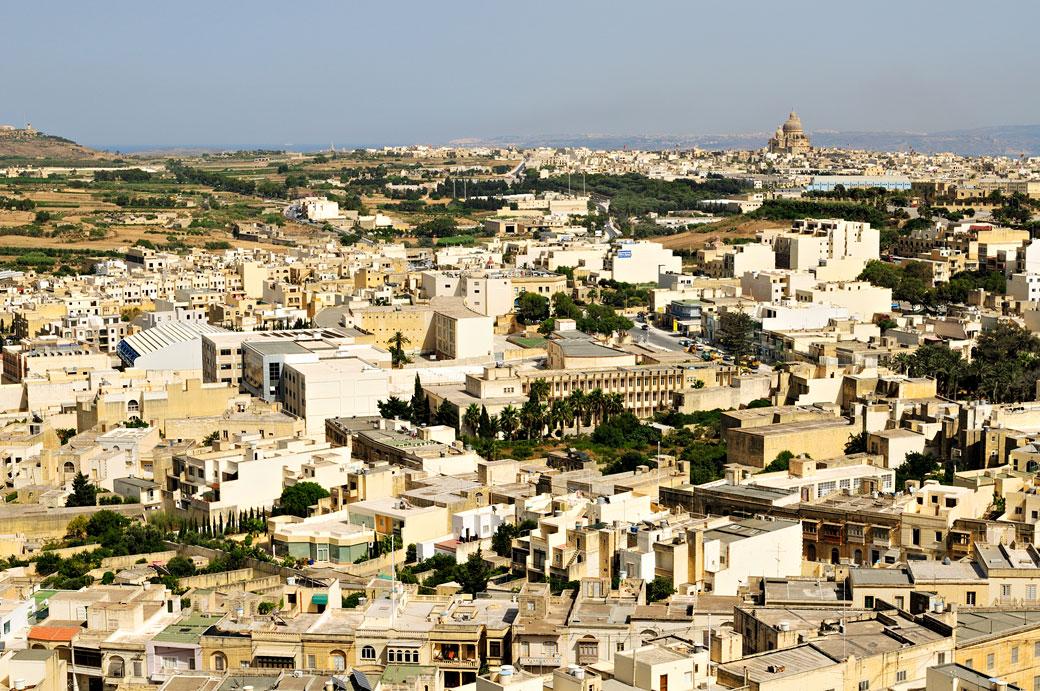 Victoria, capitale de Gozo vue depuis la citadelle, Malte