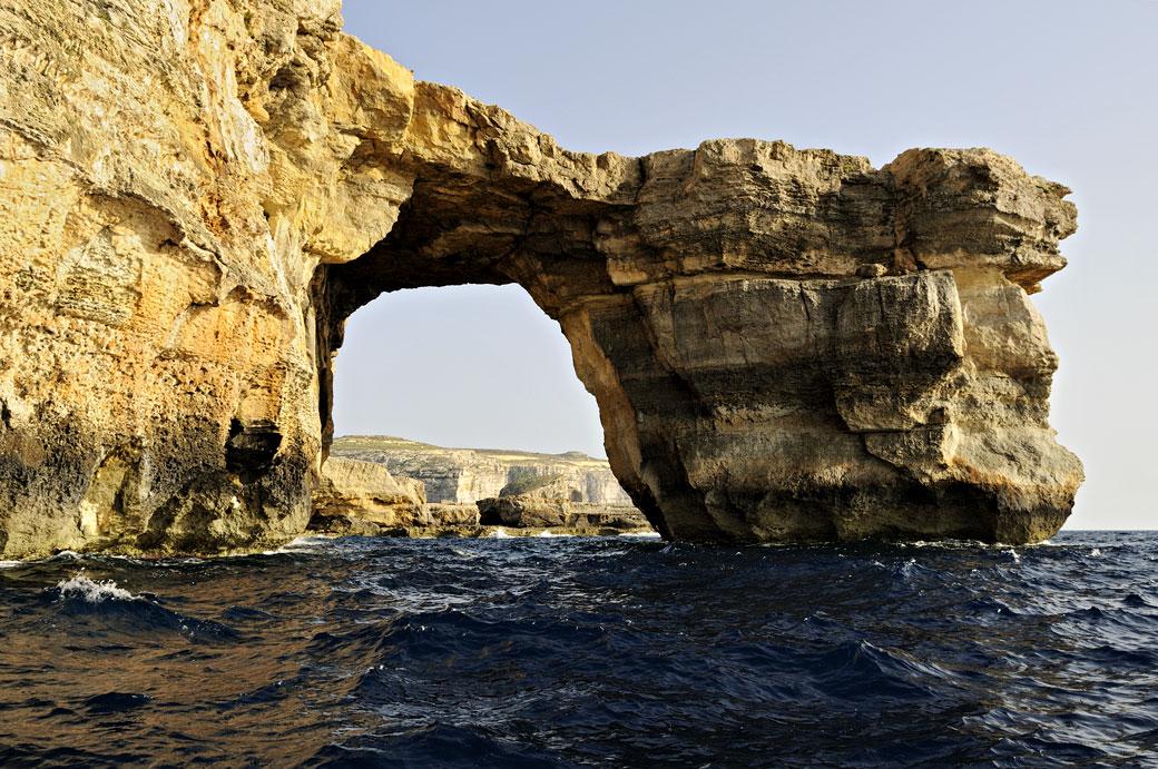 Fenêtre d'Azur depuis la mer à Gozo, Malte