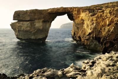 Fenêtre d'Azur, arche naturelle à Gozo, Malte