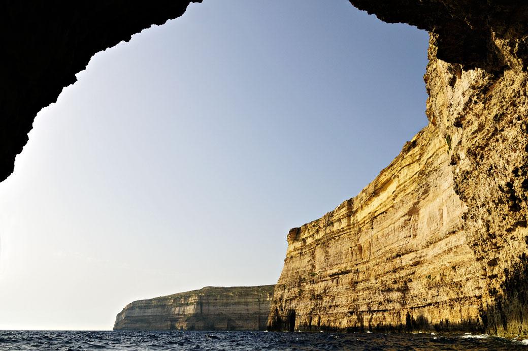 Grotte et falaises de Gozo, Malte