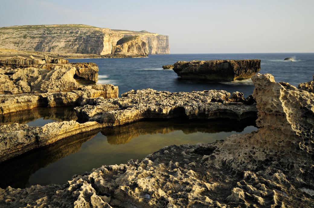 Paysage sauvage de l'île de Gozo, Malte