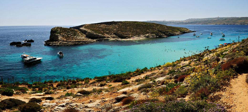 Le lagon bleu de Comino et Cominotto, Malte