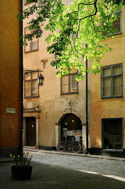 La place de Brända Tomten à Gamla Stan, Stockholm