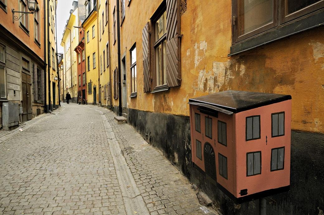 Boîte aux lettres de Gamla Stan à Stockholm, Suède