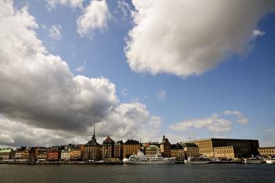 Nuages sur Gamla Stan à Stockholm, Suède
