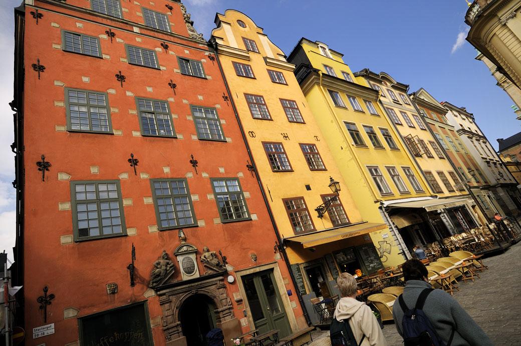 Les maisons colorées de Stortorget à Gamla Stan, Stockholm
