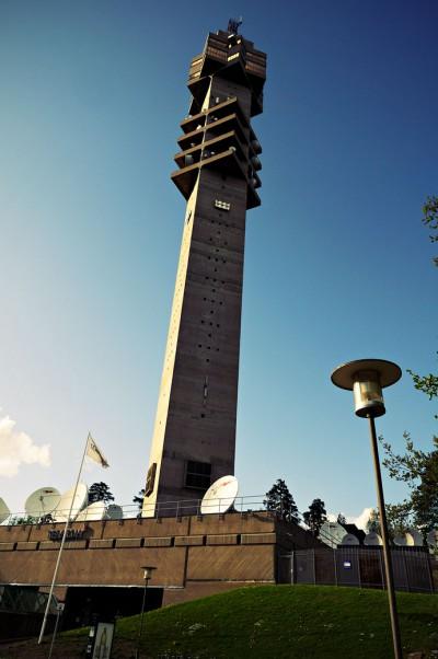 Kaknästornet, la tour de la télévision à Stockholm