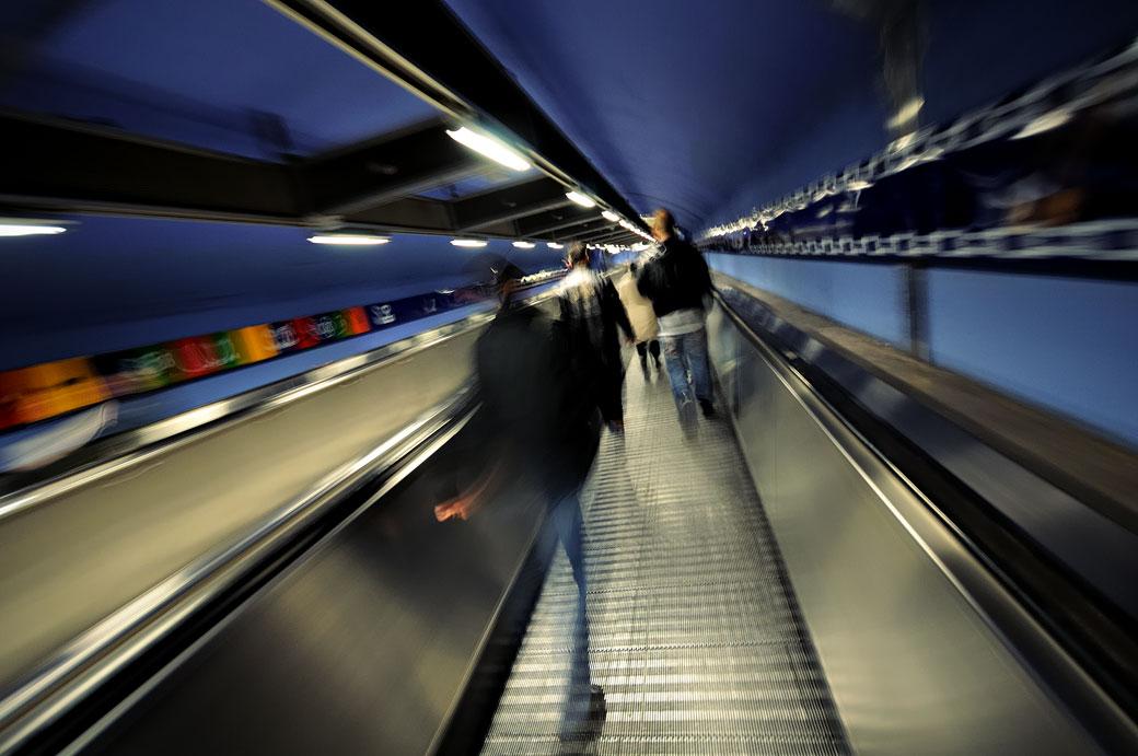 Tunnel du métro de la ligne bleue à Stockholm, Suède