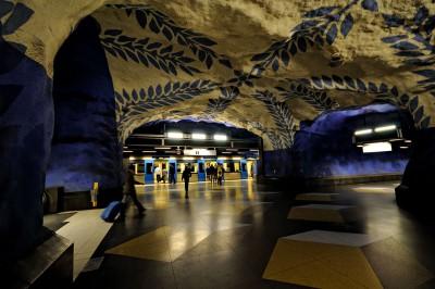 Station de métro T-Centralen à Stockholm