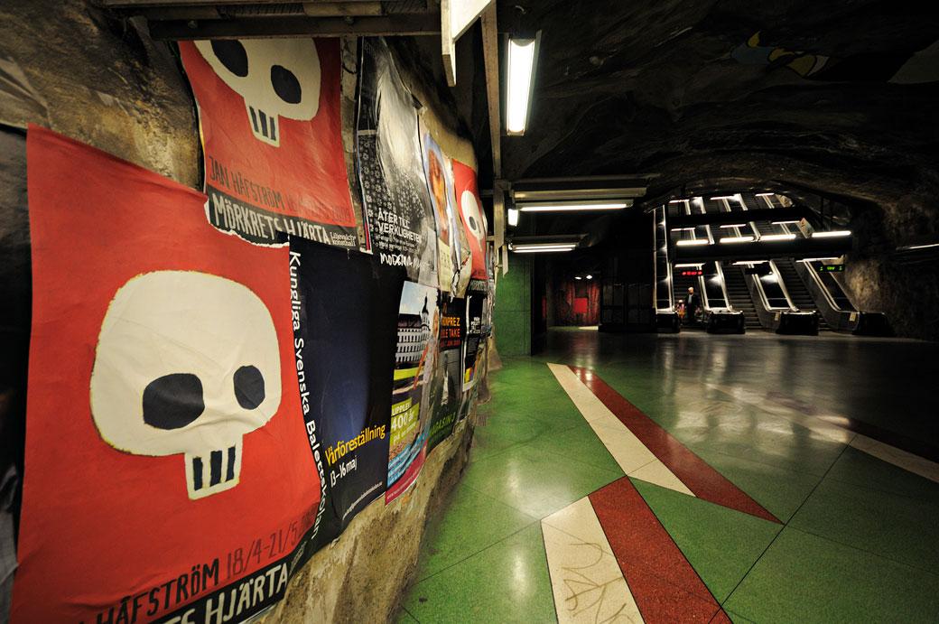Station de métro Kungsträdgården à Stockholm, Suède
