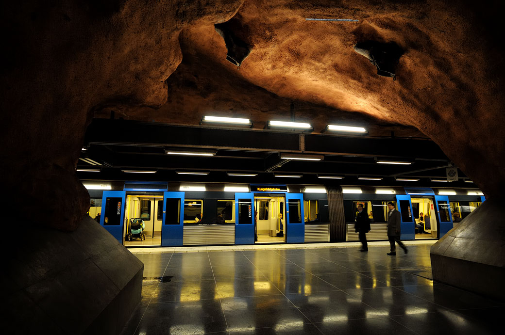 Station de métro Rådhuset à Stockholm, Suède